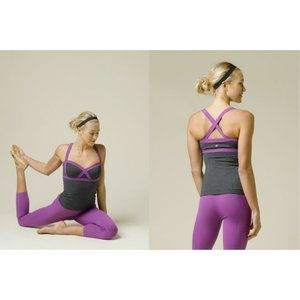 PRANA Crissy Yoga Purple/Black Tank Top